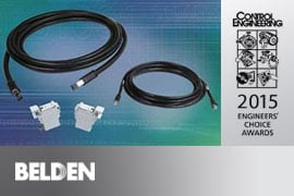 Belden DataTuff TC Cat 5e cord sets - Control Engineering 2015 Engineers' Choice